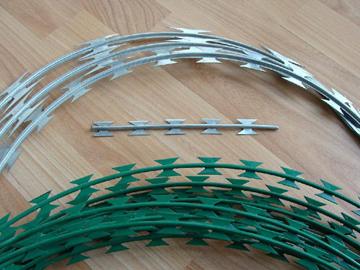 蛇腹型刀片刺网